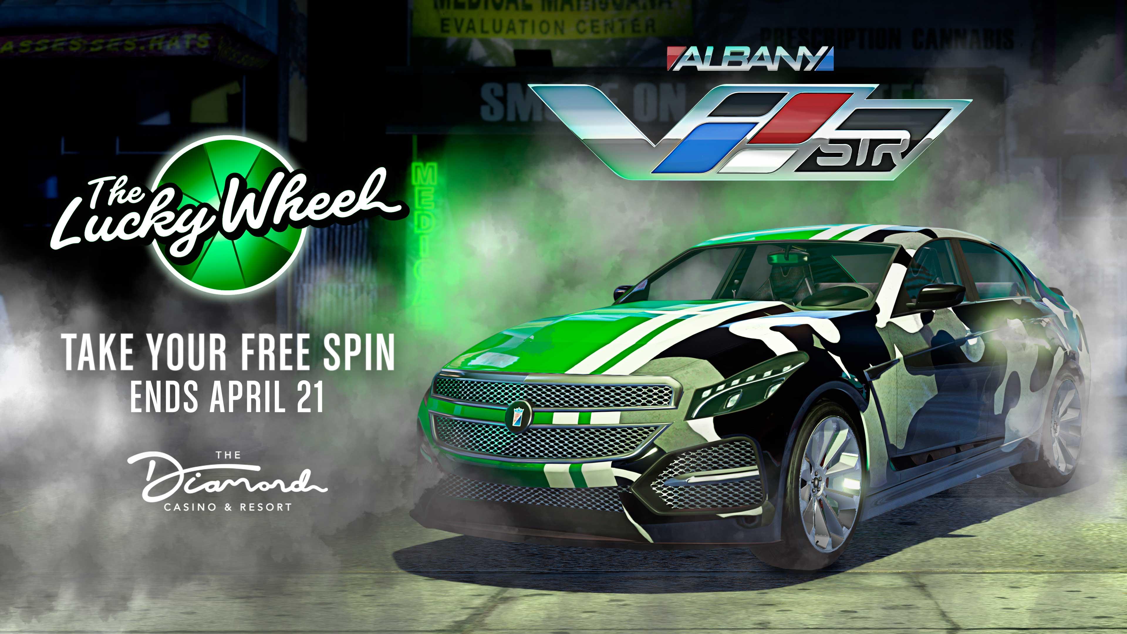 GTA Online Podium Lucky Wheel kocsi: Albany V-STR