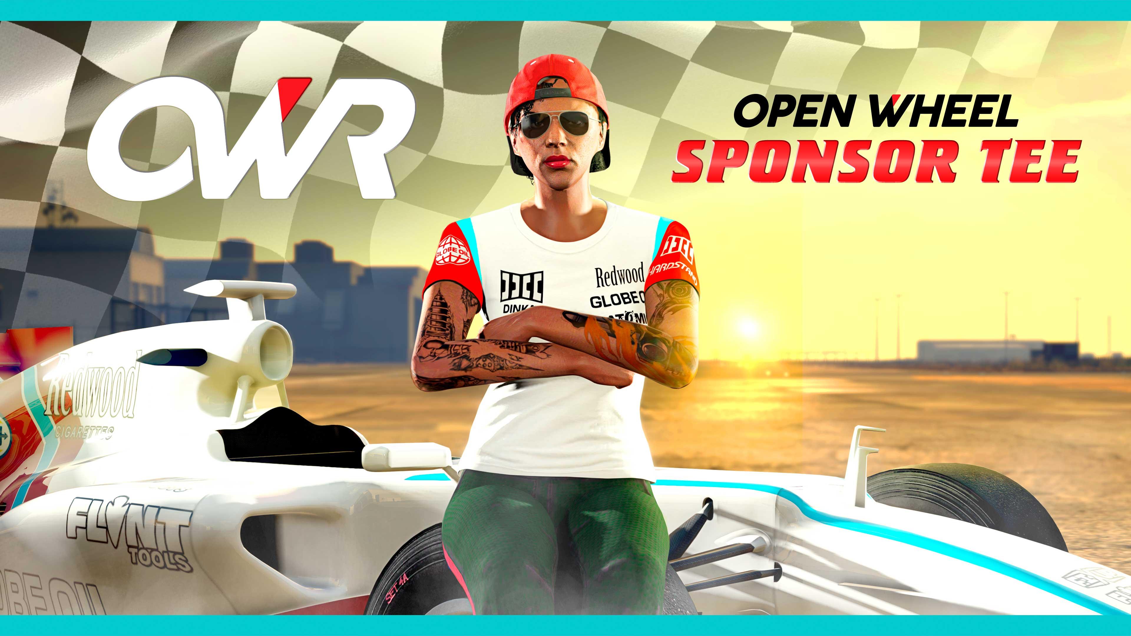 GTA Online Weekly Update: Open Wheel Sponsor Tee póló