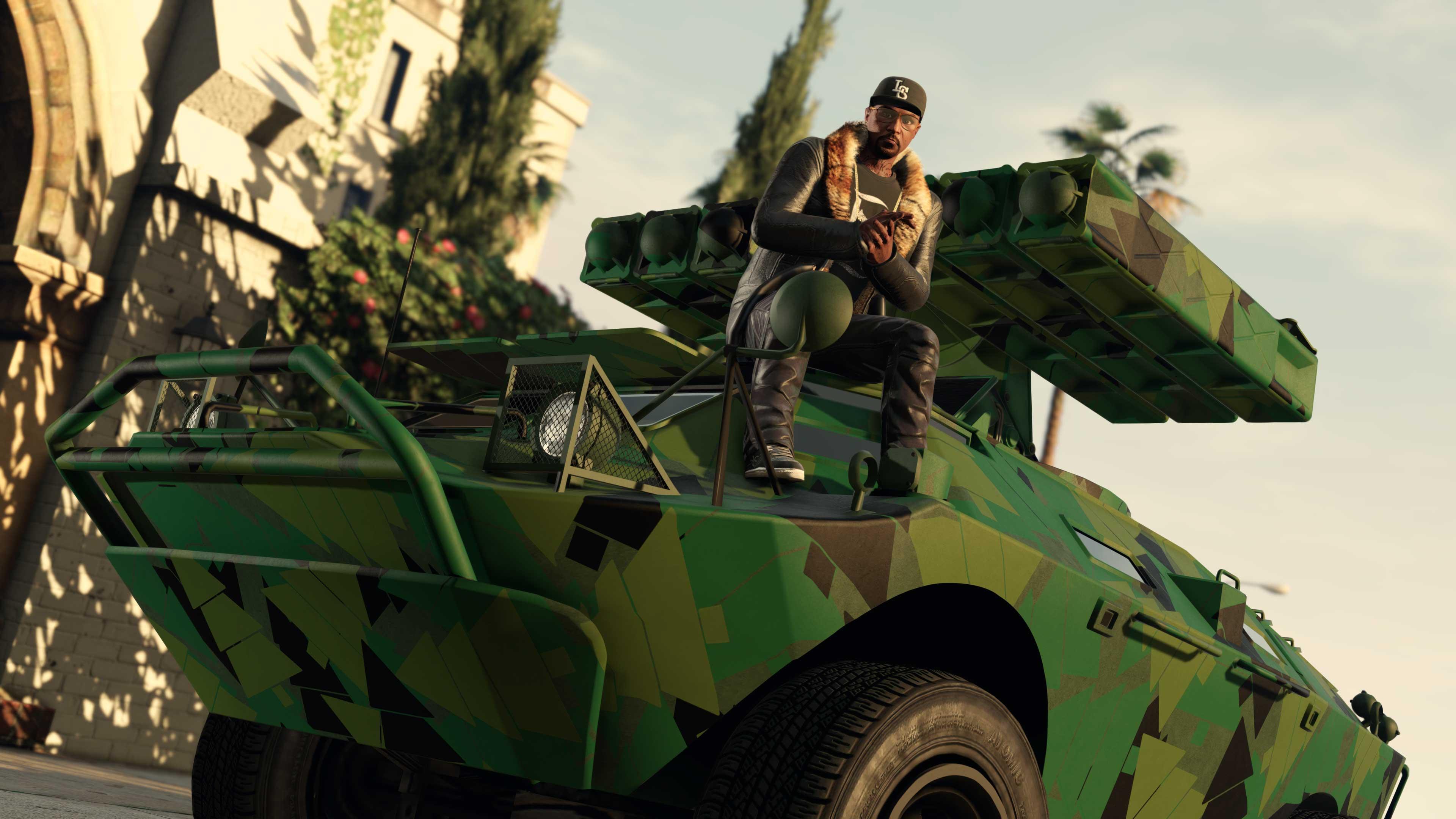 GTA Online Weekly Update: Zöld terepmintás festés (Tree Camo Livery) HVY APC tankhoz