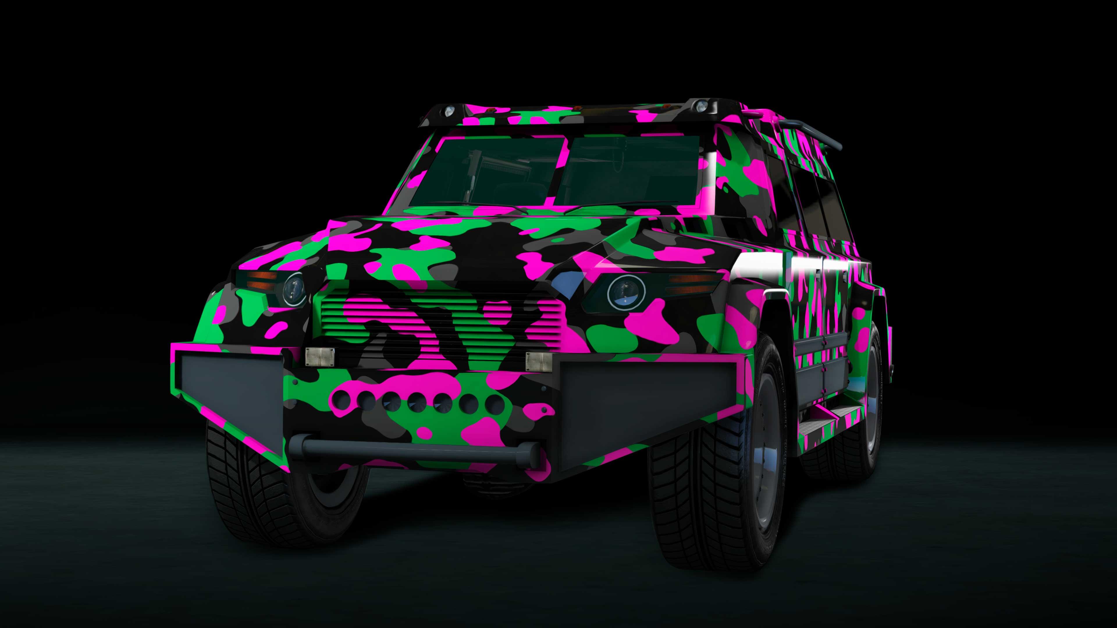GTA Online Weekly Update: Zöld terepmintás festés (Pink and Green Camo Livery) HVY Nightshark járműhöz