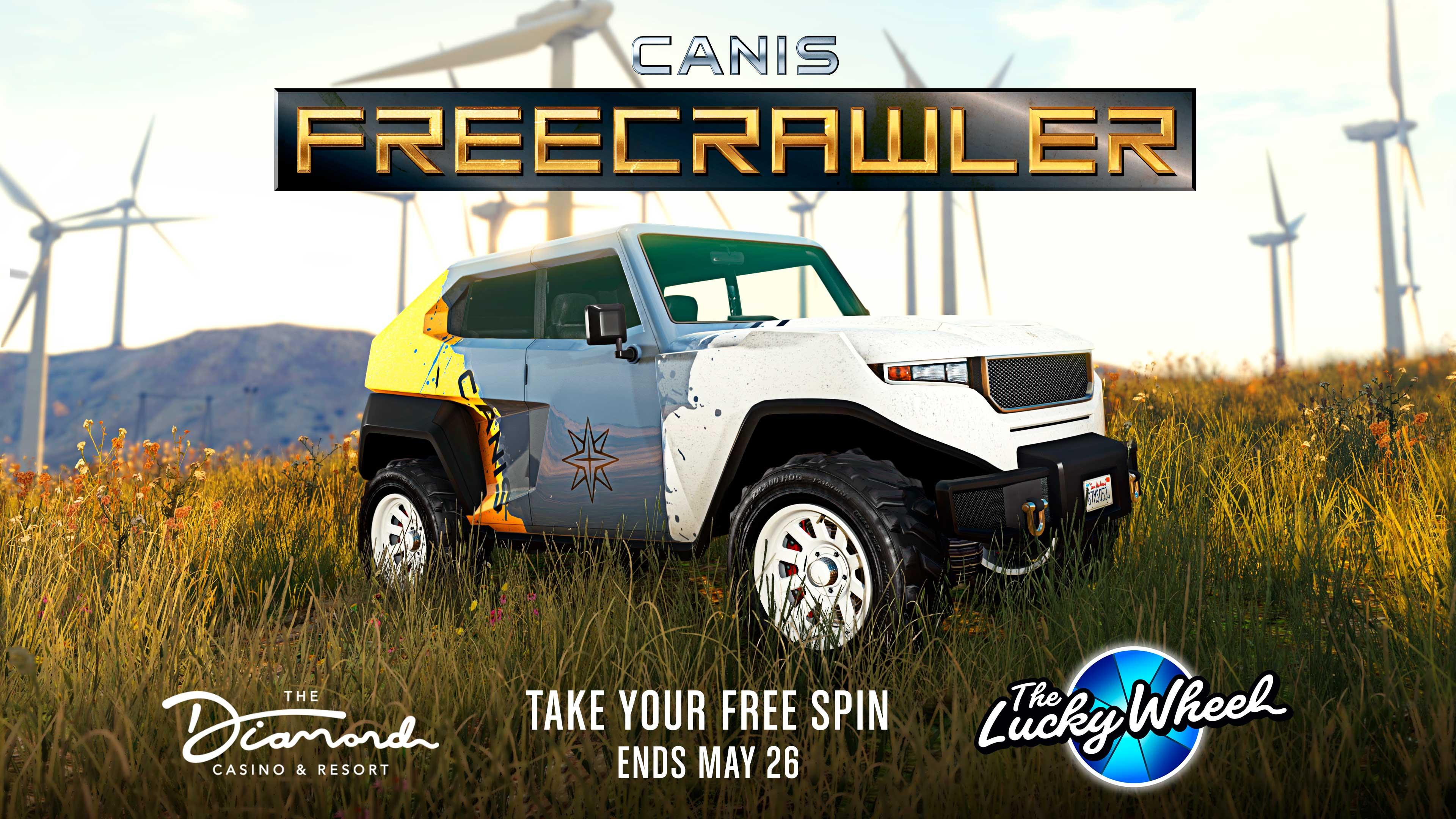 GTA Online Weekly Update: DCanis Freecrawler  (Lucky Whee szerencsekerék)