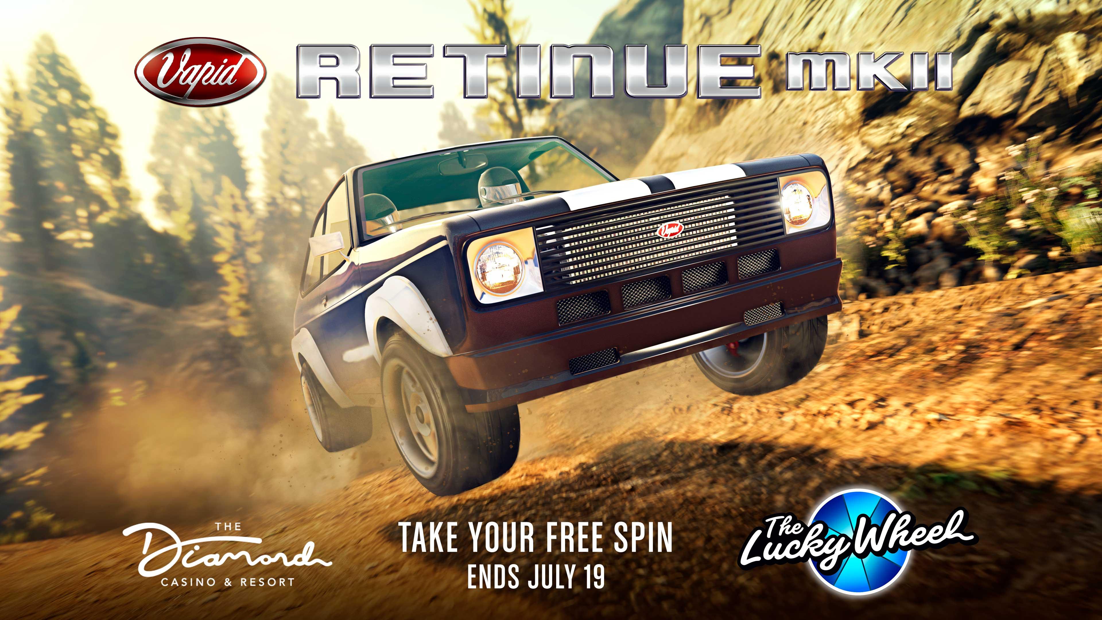 GTA Online Podium Lucky Wheel kocsi: Vapid Retinue Mk II