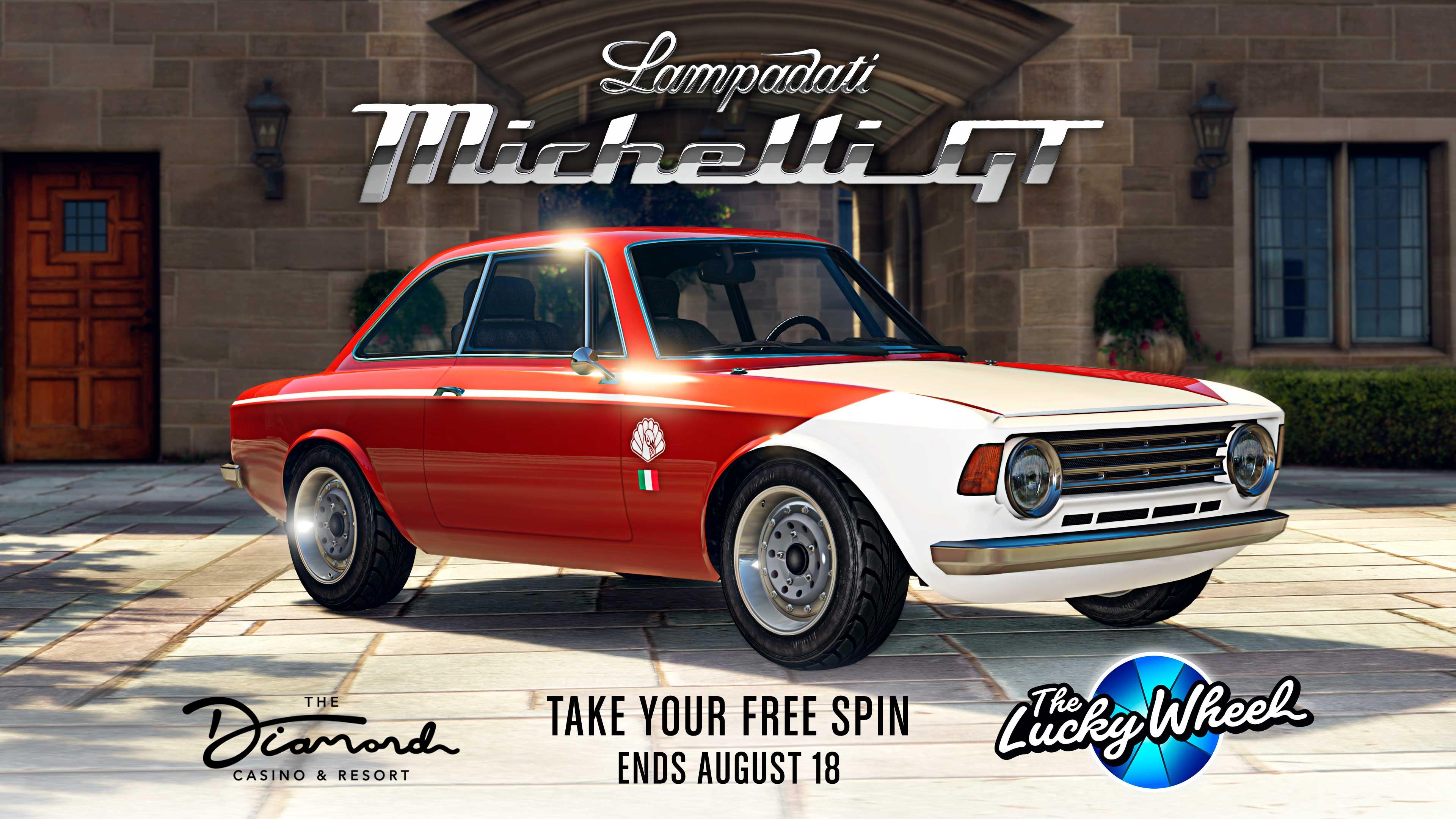 GTA Online Podium Lucky Wheel kocsi: Lampadai Michelli GT