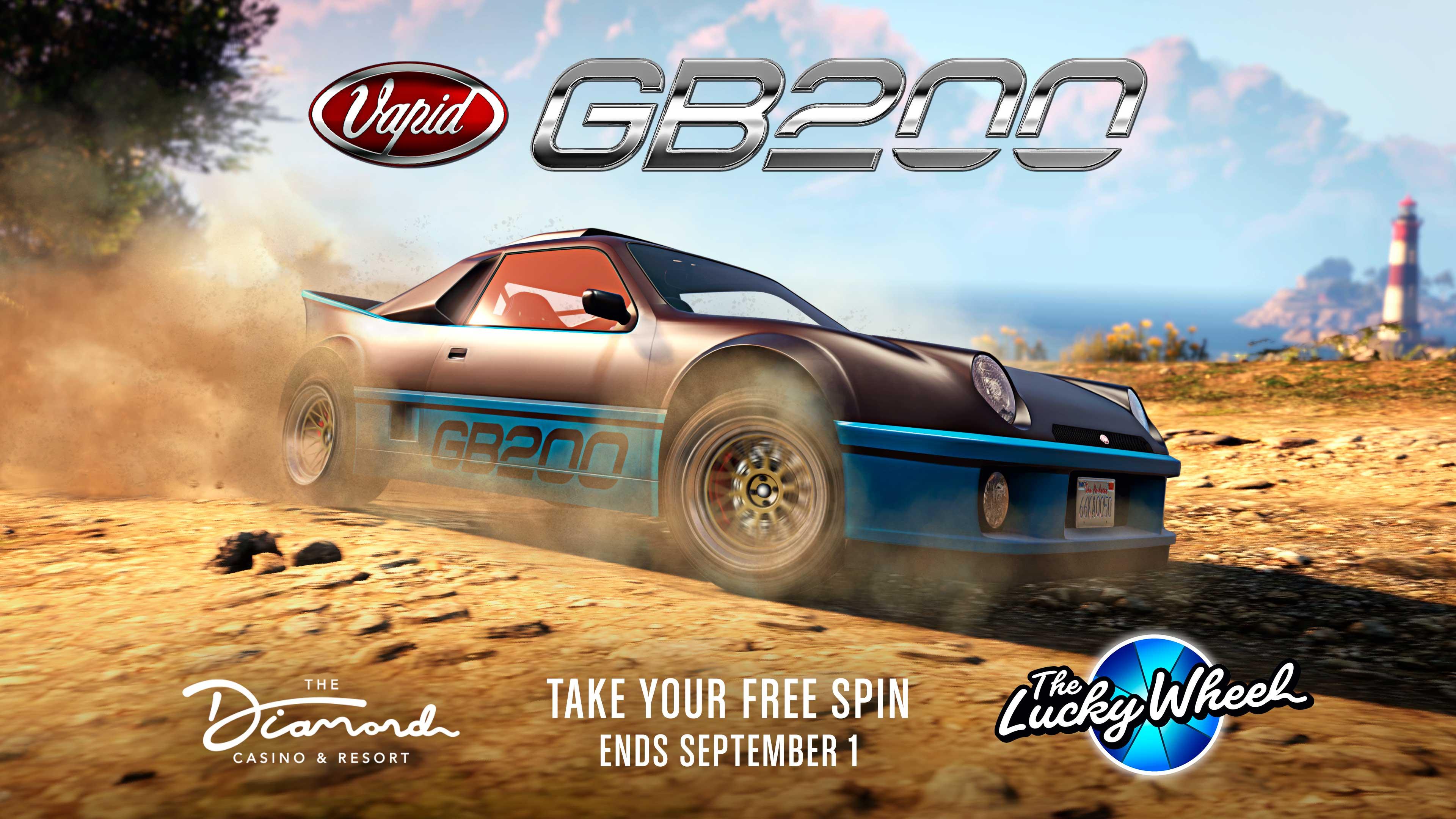 GTA Online Podium Lucky Wheel kocsi: Vapid GB200