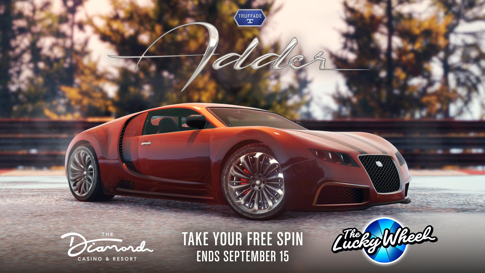 GTA Online Podium Lucky Wheel kocsi: Truffade Adder