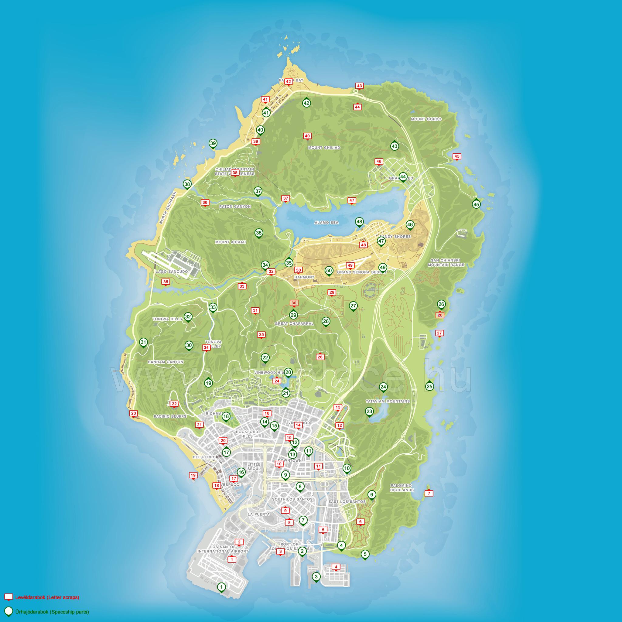 gta 5 térkép GTA V   GTA Place ▫ Gyűjtenivalók gta 5 térkép